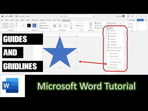 How to Use Guides and Gridlines | Microsoft Word 2016 Drawing Tools Tutorial | The Teacher