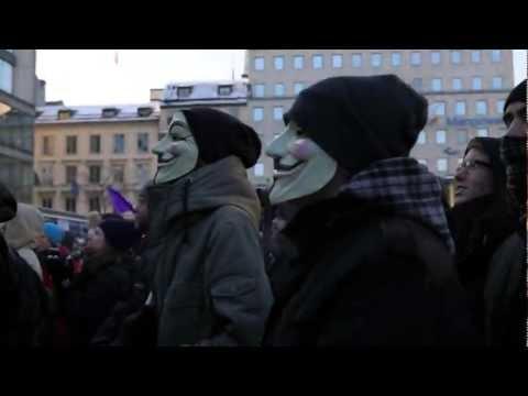 ACTA Demonstration in Stockholm, Sweden | 4th February 2012