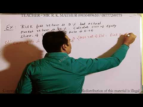 Calculate Cost of Equity Share Sums 03 | Cost of Capital | Financial Management | Mathur Sir Classes