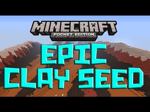 EPIC CLAY BIOME SEED! - Minecraft Pocket Edition