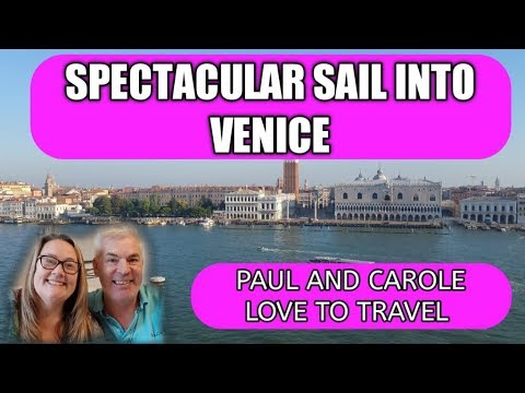 Sailing into Venice, Italy on board the Thomson Celebration Cruise Ship (Marella Celebration)