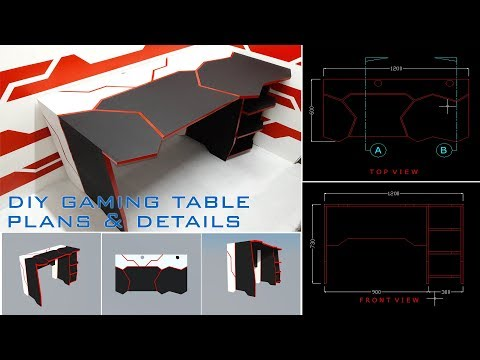 DIY 40$ Gaming Table + Plans and Details