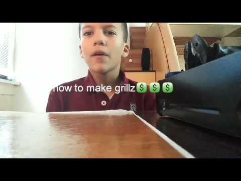 How to make grillz for your teeth ×can cut yor gums× 😀