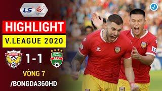 Highlight | Hồng Lĩnh Hà Tĩnh 1-1 Becamex Bình Dương | Vòng 7 V.League 2020