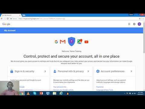 Overview Manage Google Account - My Account Settings [Hindi]