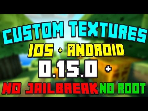 How to Get Custom Texture Packs for Minecraft PE (Pocket Edition) iOS & Android / MCPE 0.15.0 & Over