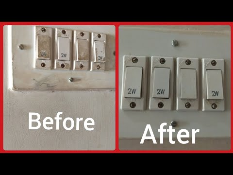 How to clean switch boards easily: Just 2 ingredients: Quick Diwali cleaning / safai