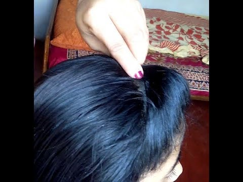 Very simple front puff hairstyle