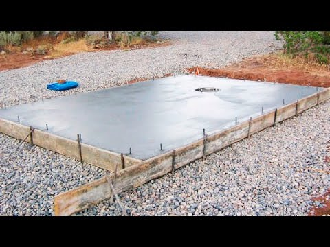 How to Pour Concrete Slabs