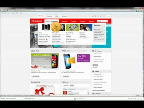 Eye Tracking: Looking for information on the Vodacom website