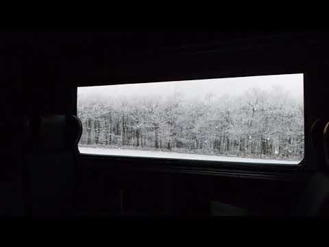 🎧 Train Journey Across Winter Forest: Relaxing asmr Ambience - train & snow sounds