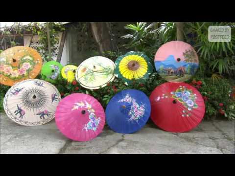 Adorable Decorated Handmade Paper Umbrellas