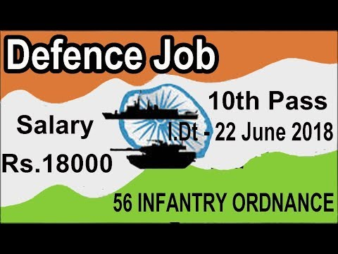 10th Pass Defence Job 2018 All India Vacancy, 56 Infantry Ordnance Unit Latest Govt job 2018
