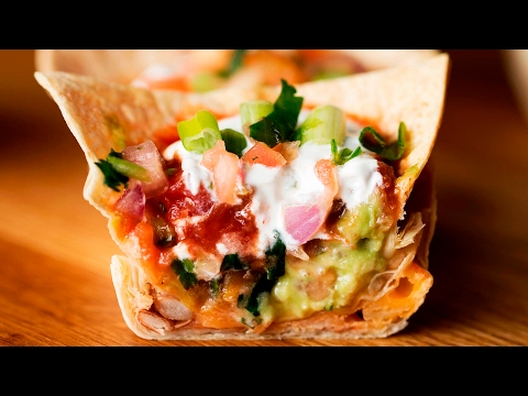 Seven-Layer Dip Cups