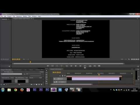 How To Make Credit Tittle ENDING Movie Premiere Pro Tutorial