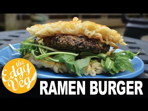 Vegan Ramen Burger | The Edgy Veg