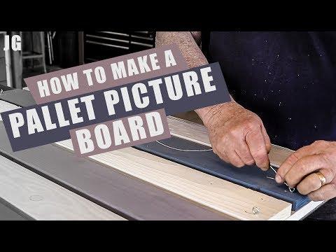 Easel Pallet Picture Board | JIMBO'S GARAGE