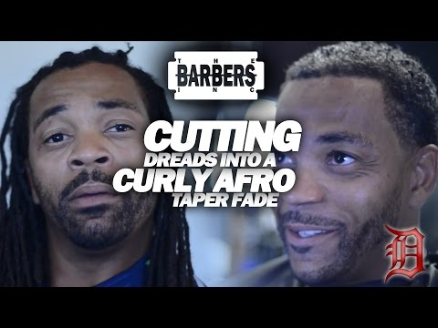HOW TO: Cut Off Richard Sherman Dreads Into Curly Afro Taper Fade | Men's Haircut Tutorial
