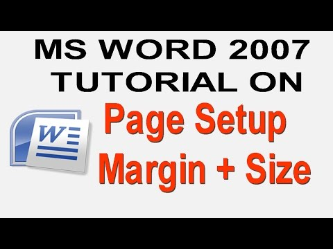 ms word 2007 tutorial in bangla part-20 page setup in ms word