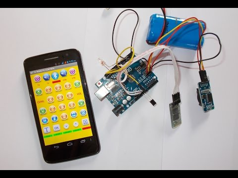 Bluetooth to IR TV Remote using Android Phone, Arduino and I2C EEPROM
