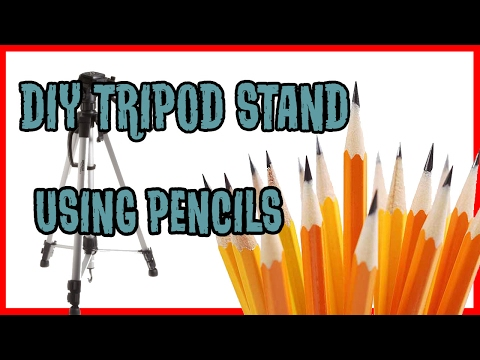 How to make DIY Tripod stand for phone with pencils | DIY Pencil Tripod Stand