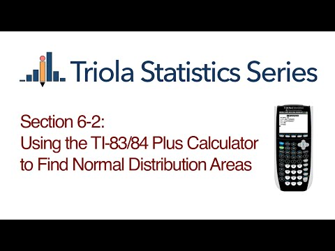 TI 83/84 Section 6-2: Using the TI-83/84 Plus Calculator to Find Normal Distribution Areas