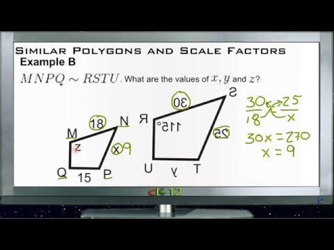 Similar Polygons and Scale Factors: Examples (Basic Geometry Concepts)