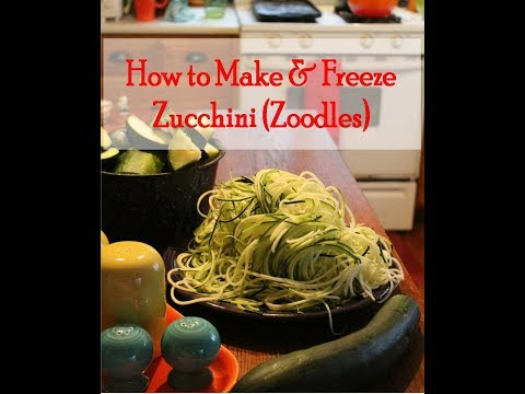 How to Spiralize & Freeze Zucchini Noodles (Zoodles)