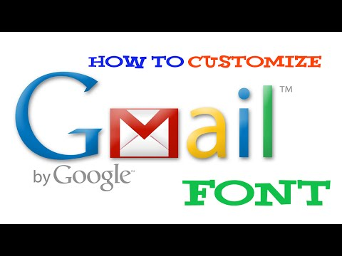 HowItSolved►How to set Custom font in Gmail