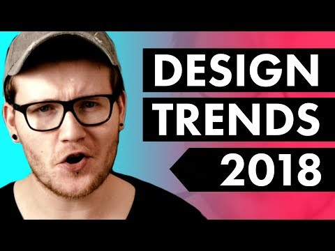 5 HUGE Graphic Design Trends in 2018❓