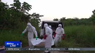 Scientists in Gabon studying the latest Ebola virus strain