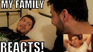 MY FAMILY REACTS TO MY CHILD!!