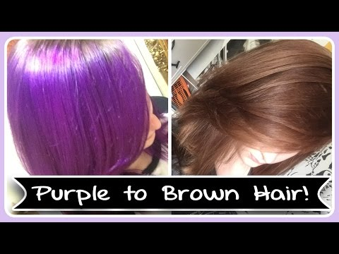 Going from Arctic Fox Purple Hair to Brown Hair ||