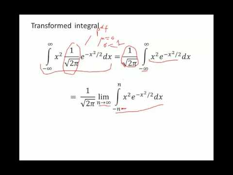 Second Moment of Normal Random Variable Proof