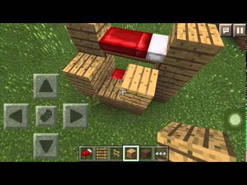 Minecraft-Pocket Edition:How to build a bunk bed