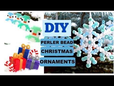 LAST MINUTE DIY Perler Bead Christmas Ornaments
