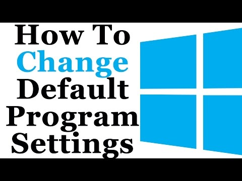 How To Change The Default Program Settings In Windows 8