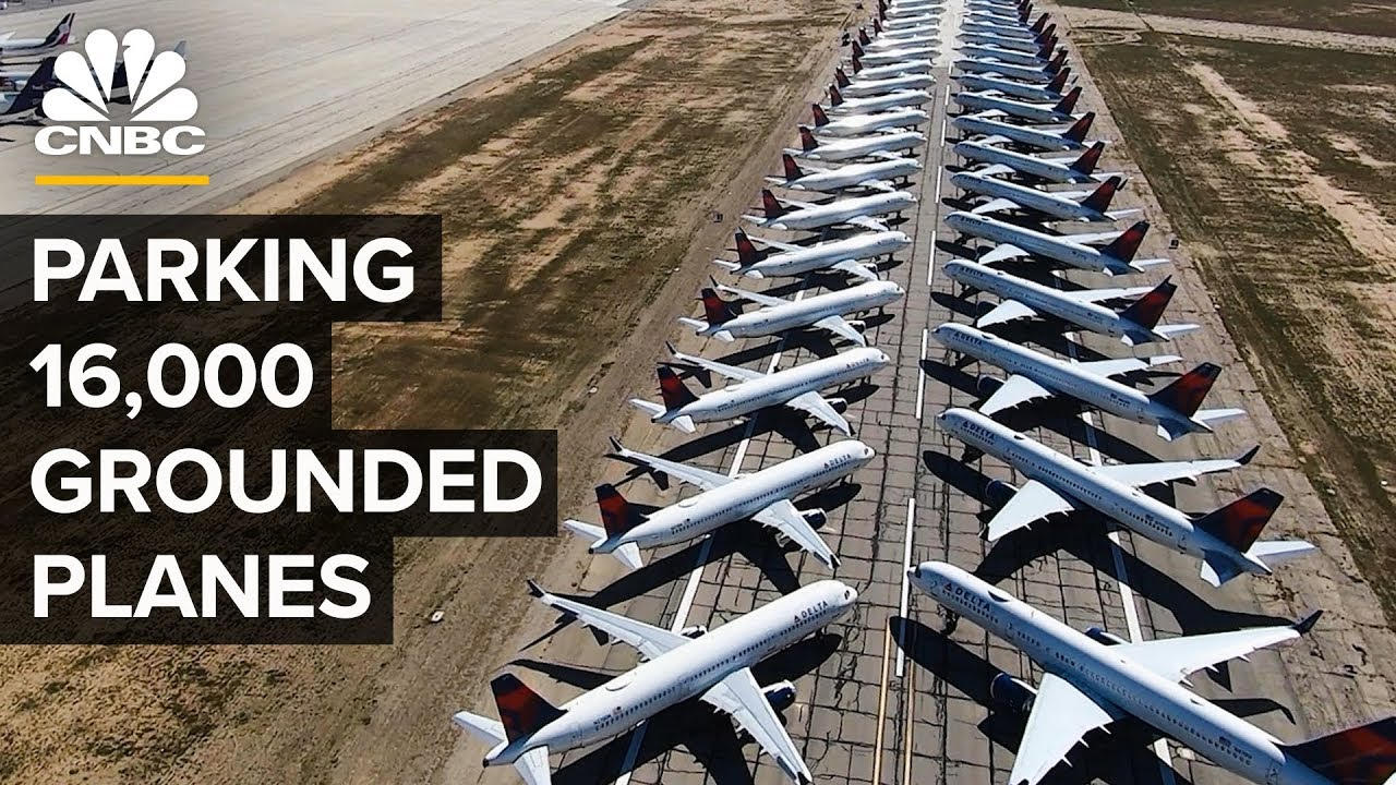 How Airlines Park Thousands Of Planes