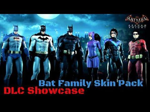 Batman Arkham Knight DLC showcase Bat Family Skin Pack