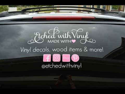How to apply a large car decal