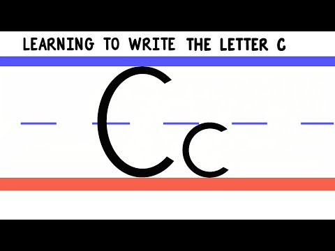 Write the Letter C - ABC Writing for Kids - Alphabet Handwriting by 123ABCtv