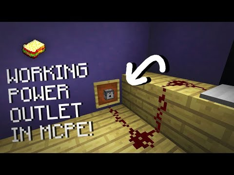 Minecraft, MCPE 1.2 | How to make a Working power outlet