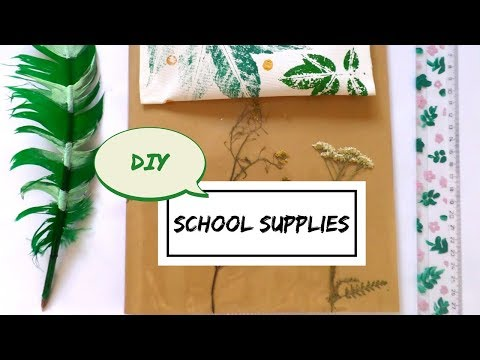 Botanical Back to School & Office Supplies DIY- Easy Creative Nature Crafts | by Fluffy Hedgehog