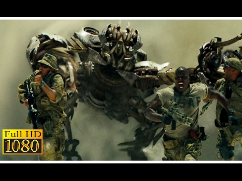 Transformers (2007) - Scorponok Attack on The Middle East of Qatar|Full scene| (1080p) FULL HD