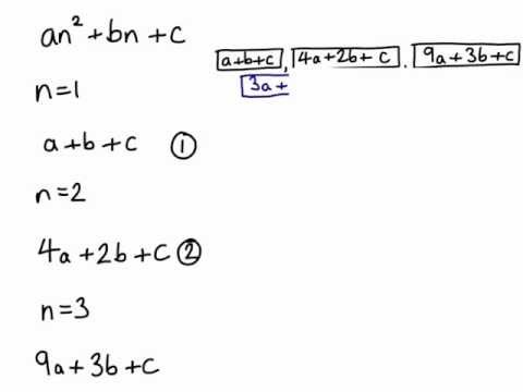 Quadratic sequences from the start