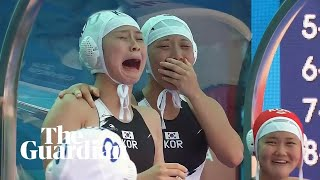 Tears of joy after South Korea score first water polo goal at world championships