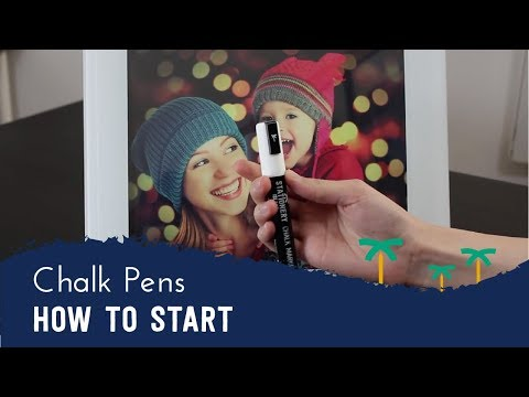 How to Get Your Liquid Chalk Marker Pens Started | Stationery Island