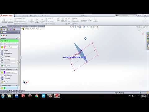 how to create reference planes in solidworks at an angle,tilted planes.