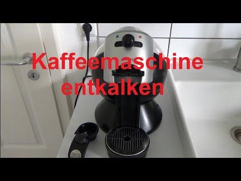 Kaffeemaschine entkalken reinigen sauber machen Kaffeeautomat entkalken Dolce Gusto entkalken