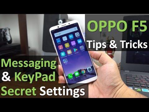OPPO F5: Messaging & Keypad Secret Settings, Tips & Tricks